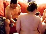 Hot BBW interracial threesome 2