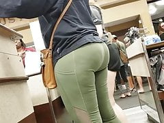 Uptown Shopping Creep Shots Leggings verdi slut culo bolla