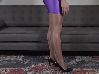 Stockings Femdom High Heels video: My Victoria's Secret Glossy Smooth Pantyhose