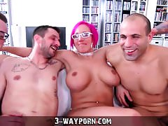 3-Way Porn - Busty Milf in Gang Banging DP