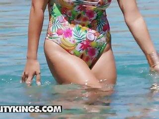 Anal Brunette video: Monster Curves - Monica Sage Eddie Jaye - Poolside Pawg