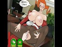 Hentai Sex-Spiel Treffen mit großen Titten Lehrer