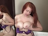 Yanks Busty Ginny Denmarc Masturbating