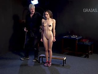 Bdsm Slave Whipping video: Little slave properly caned