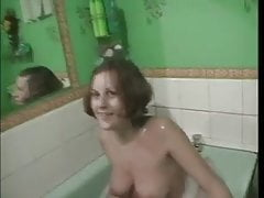 Two Girls in the Tub at a Party