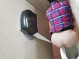 Gas Station Toilet Voyeur XXIII (Plaid Shirt Chick)