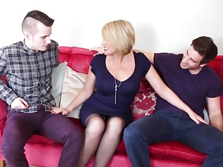Busty mothers having taboo sex with sons