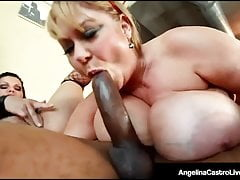 BBWs Angelina Castro & Sam 38G Ficken Big Black Cock