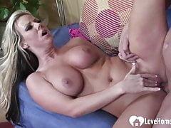 Hot blonde wife seduces her husband's friend
