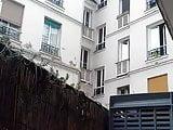Jerking cock on balcony in front of neighbors