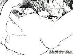 Nettes jugendlich Mädchen erhält heiße Massage