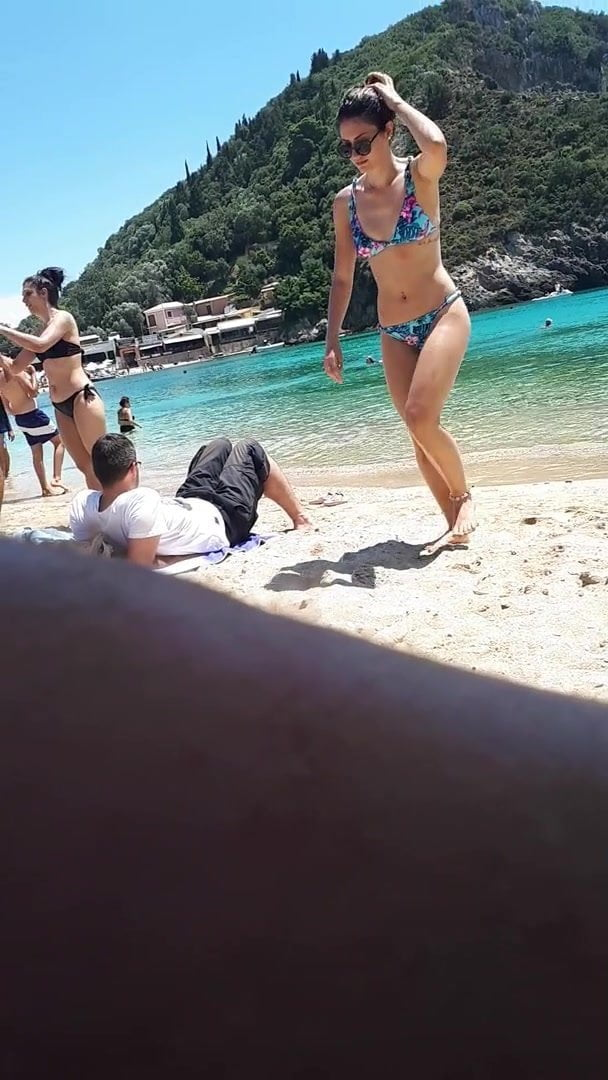 Sexy slut whore wife at the beach