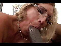 Raunchy granny rides hard on a BBC