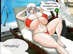 Frau Claus im Urlaub