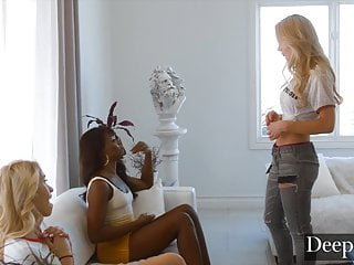 Spanking Blonde Brunette video: Deeper. Kayden Kross Craves Sweet Payback for Her Competitio