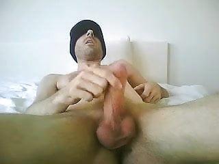 Is masturbating...