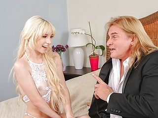 Daddy4 in white dress gives her pussy to...