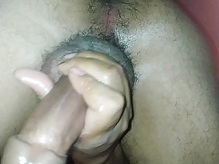 Anal play and Dick stroking