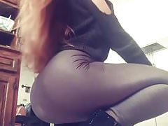 Sexy Ass in Fuckable Tight Leggings & Ankle Boots