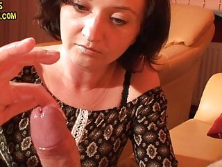 Amateur Brunette Handjob video: Long edging wit a lot of precum and huge cumshot
