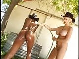 Lesbo Fight Out On The Range