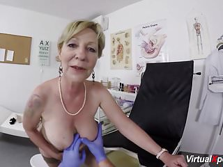 Busty granny gets doctor...