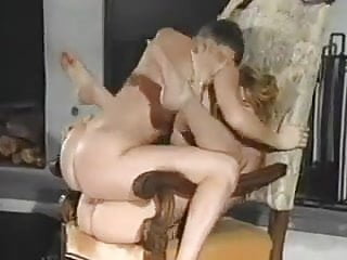 Tribadism on a chair