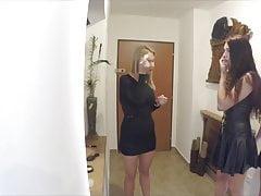 Voyeur Party thuis Super sexy lederen jurken en lingerie