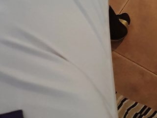 part golden white heels and pants 1