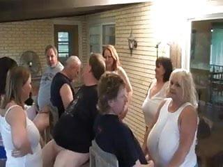 Sluts sucking cock in group fun...