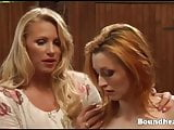Hot teen slave must please her mistress
