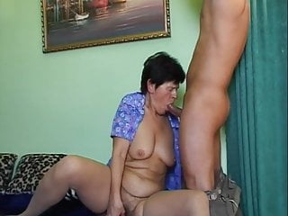 Stockings Granny Sex Toy video: Grandmoms hairy pussy