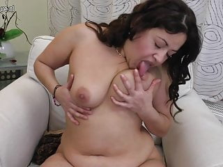 Chubby black dildo...