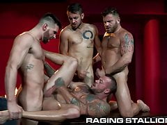 RagingStallion - Hot Orgy With 4 Muscle Hunks & Big Cocks