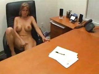MILF secretary will make you cum