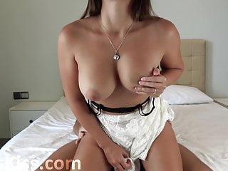 Huge hard in lingerie...