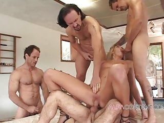 The Swinger Experience Presents 4 Dudes making naughty wife's gangbang dream come true