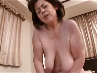 Japanese Granny with large udders censored  amateur