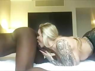 Tattooed milf sucking...