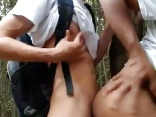 College Teen Fucks Guy in Public