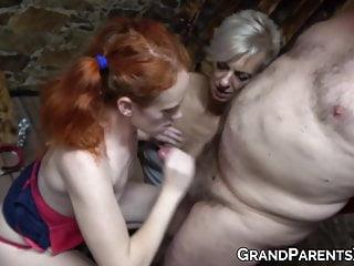 Nubile passionately rides man next grandma...