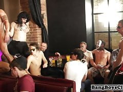 Hunky Tatted European Barebacked During Lovemaking Party