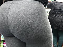 perfect ebony booty gray leggings vtl pt1free full porn
