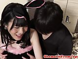 Japanese tgirl assfucked reversecowgirl