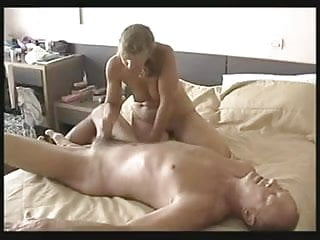 Mature Amateur Wife Wanks Off Her Husband !