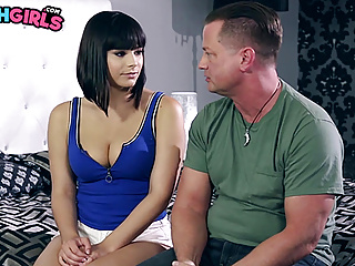 Busty babe violet starr fucks her dads...