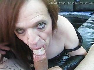Slut sucks a big dick...