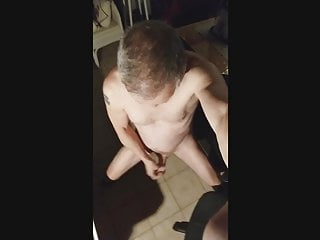 jerking my standup curved dick in sexy jerking session
