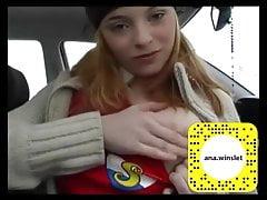 Norway Teen Solo In Her Car
