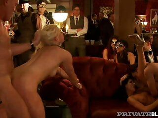 Private Black - Sex Party Turns Into Hardcore Orgy!